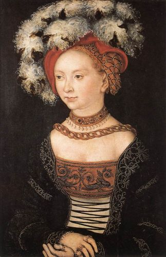 Portrait of a Young Woman by Lucas Cranach the Elder