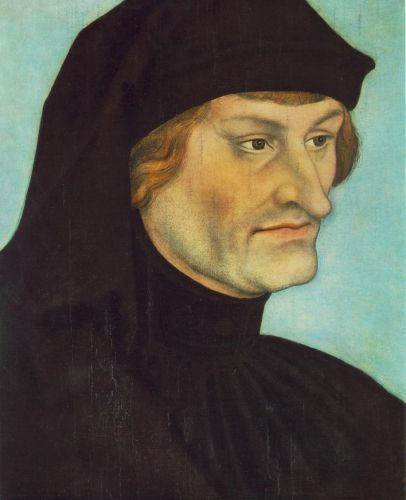 Portrait of Johannes Geiler von Kaysersberg by Lucas Cranach the Elder