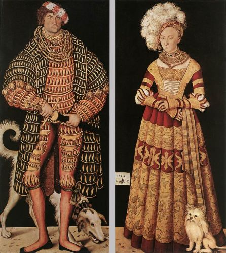 Portraits of Duke of Saxony and his wife Katharina von Meckl by Lucas Cranach the Elder