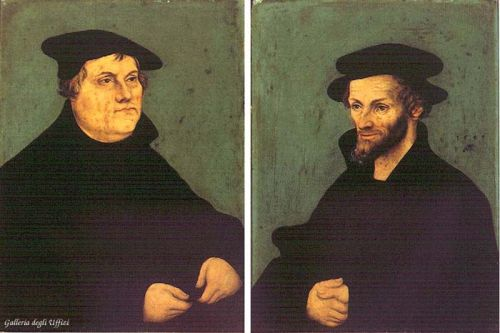 Portraits of Martin Luther and Philipp Melanchthon by Lucas Cranach the Elder