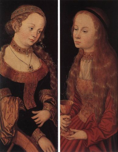 St Catherine of Alexandria and St Barbara by Lucas Cranach the Elder