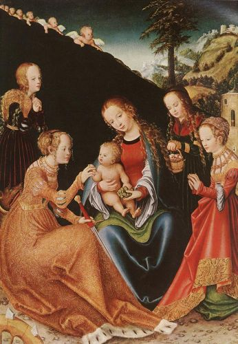 The Mystic Marriage of St Catherine by Lucas Cranach the Elder