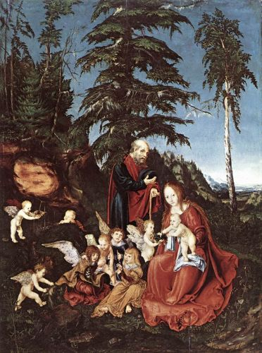 The Rest on the Flight into Egypt by Lucas Cranach the Elder