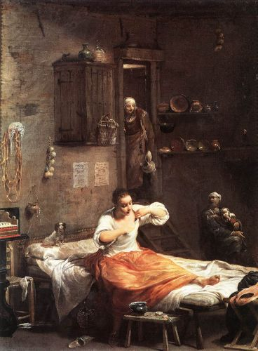 Searcher for Fleas by Giuseppe Maria Crespi