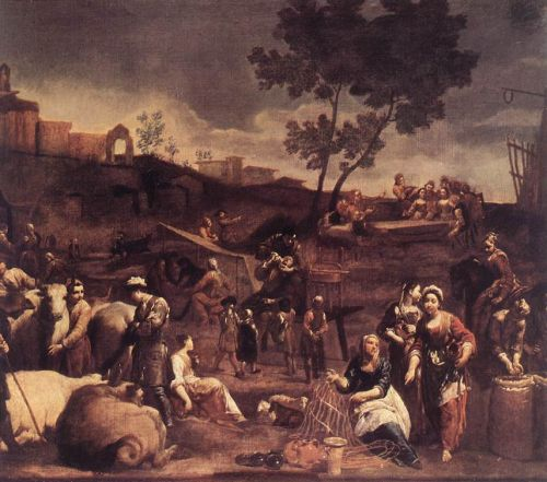 Village Fair by Giuseppe Maria Crespi