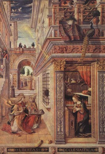 Annunciation with St Emidius by Carlo Crivelli
