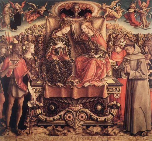 Coronation of the Virgin by Carlo Crivelli