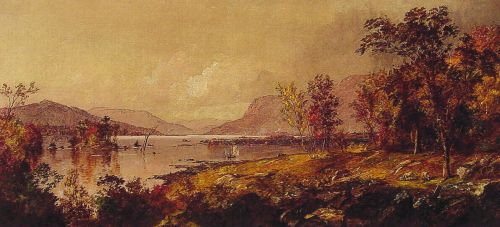 Greenwood Lake, New Jersey, in September by Jasper Francis Cropsey