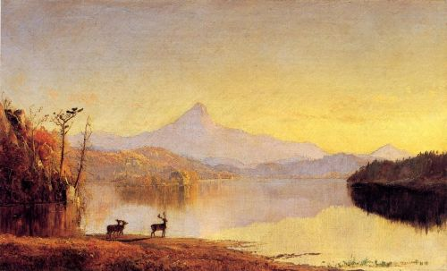 Lake Scene, Mount Chocorua by Jasper Francis Cropsey