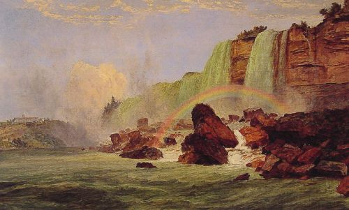 Niagara Falls with a View of Clifton House by Jasper Francis Cropsey