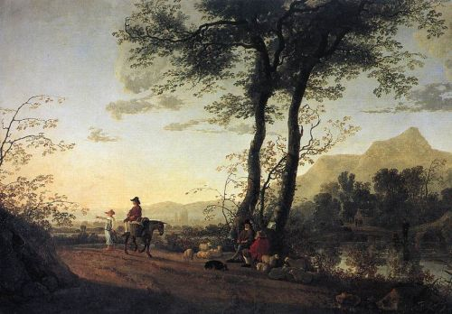 A Road near a River by Aelbert Cuyp