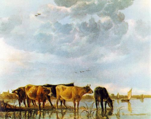 Cows in the Water by Aelbert Cuyp