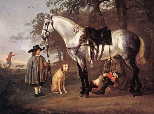 Grey Horse in a Landscape by Aelbert Cuyp