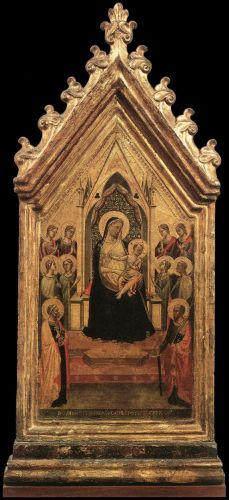 Madonna and Child Enthroned with Angels and Saints by Bernardo Daddi