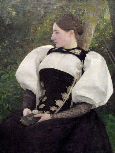 A Woman from Bern, Switzerland by Pascal Adolphe Dagnan-Bouveret