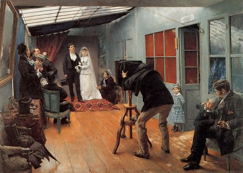 Wedding Party at the Photographer's Studio by Pascal Adolphe Dagnan-Bouveret
