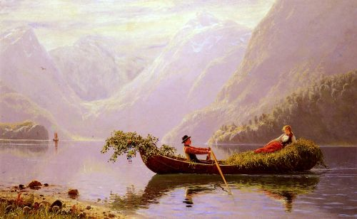 The Fjord by Hans Dahl