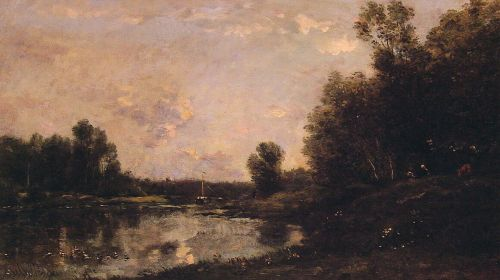 A June Day by Charles-François Daubigny