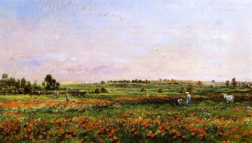 Fields in the Month of Jun by Charles-François Daubigny