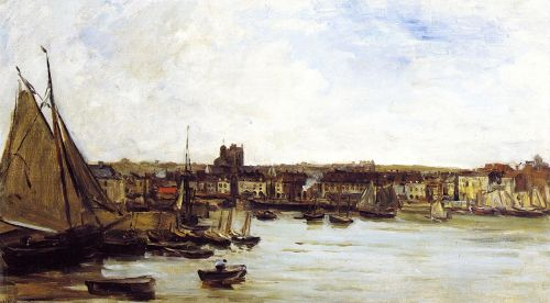 The Port of Dieppe by Charles-François Daubigny