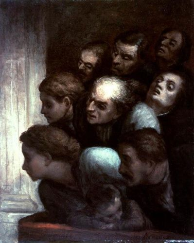 The Free Performance by Honoré Daumier