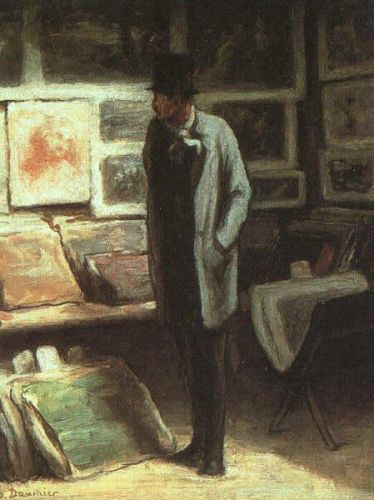 The Print Collector by Honoré Daumier