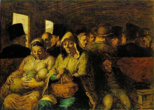The Third-Class Carraige by Honoré Daumier