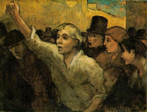 The Uprising by Honoré Daumier