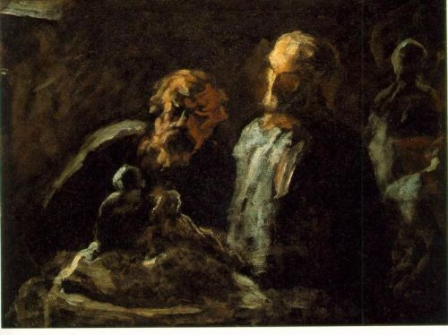 Two Sculptors by Honoré Daumier