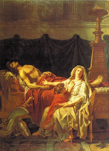 Andromache Mourning Hector by Jacques-Louis David