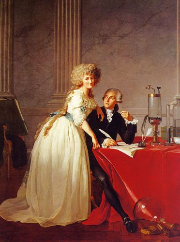 Portrait of Monsieur Lavoisier and His Wife by Jacques-Louis David