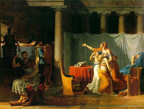 The Lictors Bring to Brutus the Bodies of His sons by Jacques-Louis David