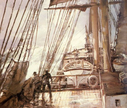 Days of Old by Montague Dawson