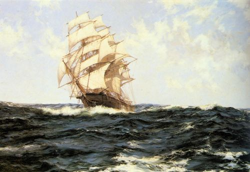 Pacific Rollers by Montague Dawson