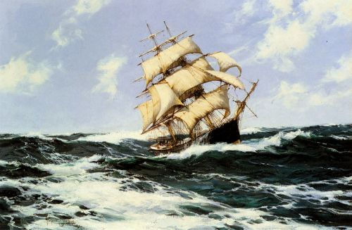 The Pacific Combers on the Open Seas by Montague Dawson