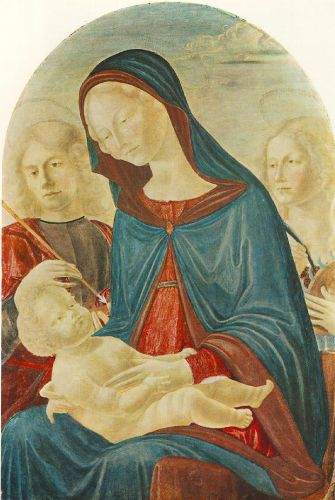 Madonna with Child, St Sebastian and St Catherine of Alexand by Neroccio de' Landi