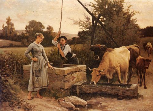 At the Well by Edouard Debat-Ponsan