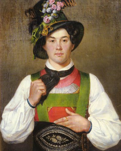 A Young Man In Tyrolean Costume by Franz von Defregger