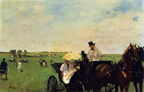 A Carriage at the Races, 1872 by Edgar Degas