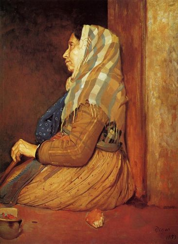 A Roman Beggar Woman, 1857 by Edgar Degas