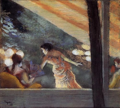 At the Cafe des Ambassadeurs, 1885 by Edgar Degas