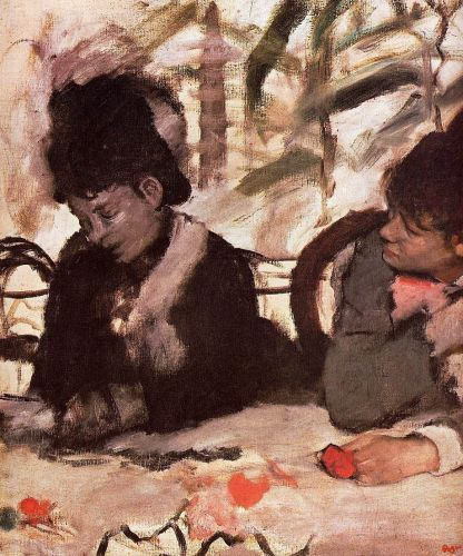At the Cafe, 1877 by Edgar Degas