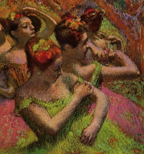 Ballerinas Adjusting Their Dresses, 1899 by Edgar Degas