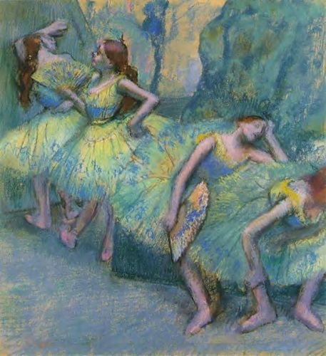 Ballet Dancers in the Wings, 1900 by Edgar Degas