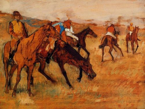 Before the Race, 1882-1884 by Edgar Degas