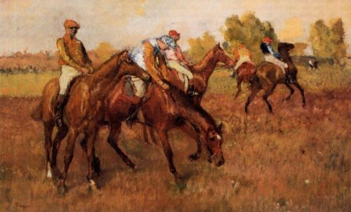 Before the Race, 1882-1888 by Edgar Degas
