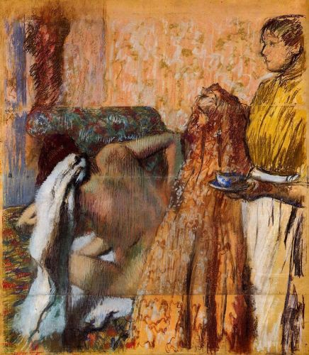 Breakfast after the Bath, 1893-1898 by Edgar Degas