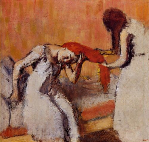 Combing the Hair, 1896-1900 by Edgar Degas