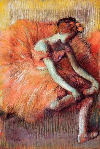 Dancer Adjusting Her Sandel, 1896 by Edgar Degas