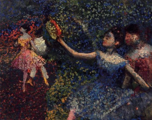 Dancer and Tambourine, 1897 by Edgar Degas